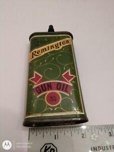 Antique Remington Gun Oil Tin Can