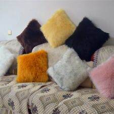 1pcs Soft & Comfy Plush Long Faux Fur 45 x 45cm Throw Pillows 2 pack- 9 Colors