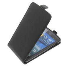 Tasche für Acer Liquid E700 Flip-Style Handytasche Schutz Hülle Case Schwarz Rau