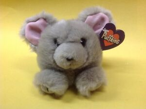 Puffkins 1997 MURPHY Gray Plush Animal SWIBCO Style 6618