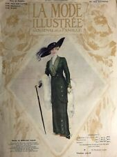 Edwardian MODE ILLUSTREE Oct 27,1912+ sewing PATTERN - Costumes, paletots