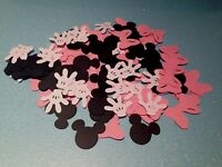200 MICKEY MINIE MOUSE CONFETTI DIE CUTS HEAD, BOWS, GLOVES