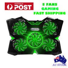 "For 12""-17"" Laptop Cooling Pad Stand Cooler 5 Fans LED Light Gaming Cooler"