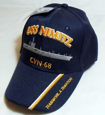 USS NIMITZ CVN-68 US NAVY SHIP HAT OFFICIALLY LICENSED BASEBALL CAP