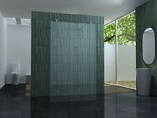 freistehende 120 Duschwand Duschabtrennung Walk Dusche Duschtrennwand 10 mm Glas