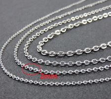 """30"""" 2mm Stainless Steel Link Chain for Pendant Silver Tone Necklace STlnk2S"""