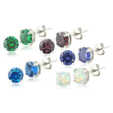 Exotic Colors Cubic Zirconia Stud Earrings Set of 5