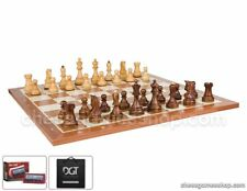 DUBROVNIK ROYAL WOODEN chess set with timer and carrying bag-Hand crafted pieces