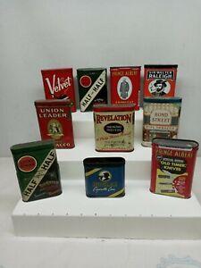Vintage TOBACCO TINS Lot of 10 Revelation Bond Street Union Leader Velvet