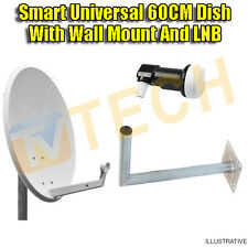 60CM Satellite Dish/LNB/ Wall Mount Sky Freesat Perfect for Seaside Location