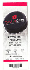 2013 NEW JERSEY DEVILS VS PITTSBURGH PENGUINS FULL TICKET STUB 4/25/13