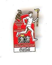 NEW COCA COLA ATLANTA 1996 OLYMPICS TORCH RELAY PIN BADGE COKE