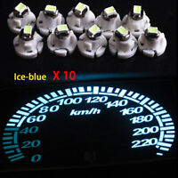 10X Ice Blue T4.2 Neo Wedge 1-SMD LED Cluster Instrument Dash Climate Bulb Light