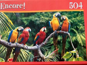 Encore! PRETTY PARROTS 504 Piece Puzzle Sealed Nib