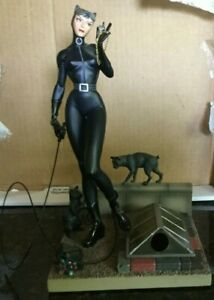 Catwoman - Cold-Cast Hand Painted Porcelain Statue - Jim Lee - 2004 DC Direct