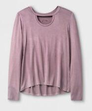 Art Class Girls Long Sleeve Choker Neckline T-Shirt Mauve Extra Small 4-5 (3665)