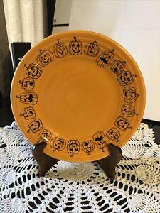 Fiesta Fiestaware Tangerine Orange Pumpkin Luncheon Plate-9''