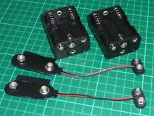 PP9 Battery Adapter x2 Converter 6xAA Holder PP9 Battery Eliminator