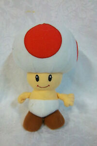 "Goldie Marketing Super Mario Bros Toad 8"" Plush Soft Toy Stuffed Animal"