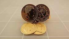 Coventry Napoleon Coins Tie Bar Vintage Costume Gold Tone Sarah