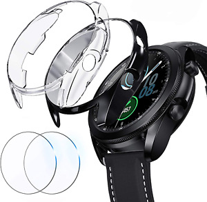 Samsung Galaxy Watch 3 45mm Case with Screen Protector TPU Bumper Cover 2 Sets
