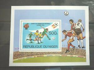 Niger 1 Block **  aus 1981 Michelwert 5,00 € Fussballweltmeisterschaft Spanien