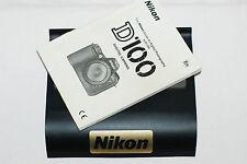 Genuine NIKON D100 Digital SLR Camera Original USER GUIDE Instruction Manual
