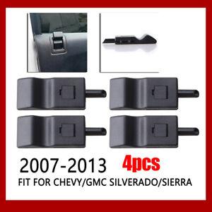 4x Door Lock Latch Knob For Chevrolet Silverado Chevy GMC 07-14 1500 2500 3500