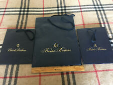 Authentic Brooks Brothers Paper Shopping Bags x 3