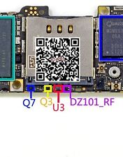 IC Q7 + Q3 + U3 + DZ101_RF  chip su scheda madre per Iphone 5 5g