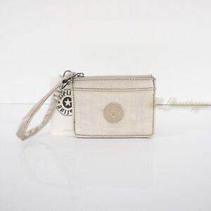 NWT Kipling KI0056 Cindy Card Case Small Wallet Polyamide Gleaming Gold Metallic