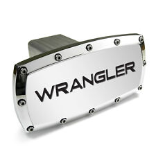 Jeep Wrangler Engraved Billet Aluminum Chrome Tow Hitch Cover