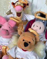 Disney Store Winnie the Pooh Choir Angel Bean Bag Tigger Eeyore Piglet Plush Set