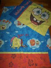 Spongebob Squarepants SLEEPY & WAKEUP PANTS PILLOWCASE & TWIN FLAT SHEET