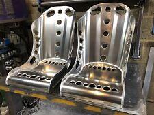 Aluminium Bucket Seat, High Top Bomber Seat 5 Point (x2) Hot Rod, Classic, Retro