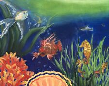 """""""Tropical Fish"""" is an 11"""" x 14"""" high quality oil print suitable for any decor."""