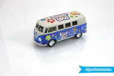 1962 Volkswagen Classical Hippie Bus 1:32 scale Die Cast Blue model VW Kombi