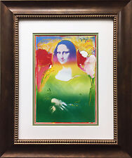 "Peter Max ""Mona Lisa I"" NEWLY CUSTOM FRAMED Print Art POP Leonardo da Vinci"