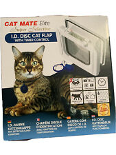 CAT MATE ELITE ID DISC CAT FLAP WITH TIMER CONTROL WHITE