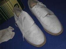 GOLF SHOES Ladies Foot Joy SOFT JOY 2 White Tooled Leather            21L3