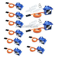 10PCS SG90 9G Micro RC Servo Motor Mini Gear For RC Helicopter Airplane Car Boat