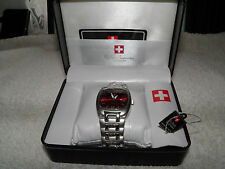 Gents Swiss Supreme Quartz Watch Stainless Steel  (New)