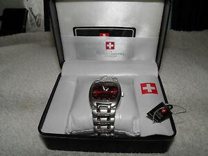 Gents Swiss Supreme Quartz Watch Stainless Steel  (New)