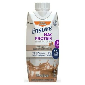 Ensure MaxProtein Shake with 30g of High-Quality Protein, 1g of 4 cafe mocha