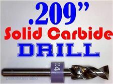 ".209""  5.30mm  -Solid Carbide Drill Bit - 1/8"" Shank -Sharp! CNC Hobby Model -lu"