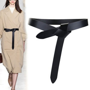 2021 knot soft pu women's knot cowhide belt knotted belt top new