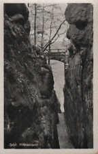 OYBIN-ZITTAU, Ansichtskarte 1951, Zittauer Gebirge/Sachsen, Oybin-Ritterschlucht