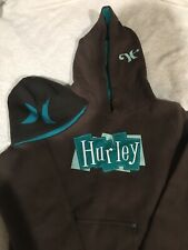 Hurley Womens Pullover Hoodie Size Medium And Beanie