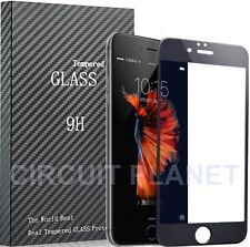 Tempered Glass Screen Protectors for iPhone Black 7 Plus
