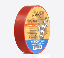 """Merco M809 Electrical Tape 3/4"""" x 66' All Weather UL - RED - pack of 50 rolls..."""